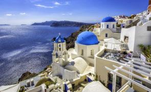 Holiday in Santorini, Grece