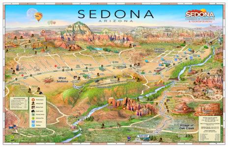 Interactive map of Sedona