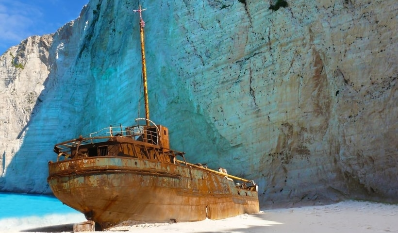 Zakynthos Shipwreck History